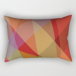 Stripes - Red Rectangular Pillow