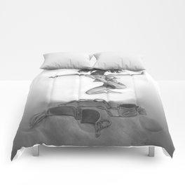 LIBERTE'! black and white Comforters