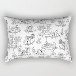 Zombie Toile - B&W Rectangular Pillow