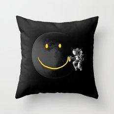 Make a Smile Throw Pillow