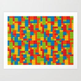Bricks geometric pattern Art Print