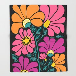 Wildflower Party Throw Blanket