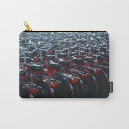 Rear lights of red bicycles Carry-All Pouch