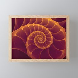 Infinity | Gold Burgundy Sea Shell Framed Mini Art Print