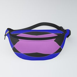 Abstract Purple Blue Pink Black Church Window Fanny Pack