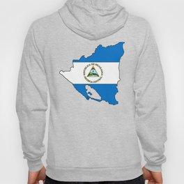 Nicaragua Map with Nicaraguan Flag Hoody