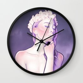 Purple Sentinel Portrait Painting - Airbrushed - Dream Collection Wall Clock