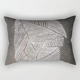 Black and White  Lines Rectangular Pillow