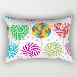lollipops pattern, colorful spiral candy cane with twisted design Rectangular Pillow