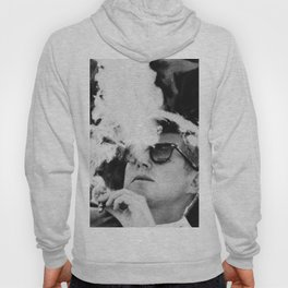 JFK Cigar and Sunglasses Cool President Photo Hoody