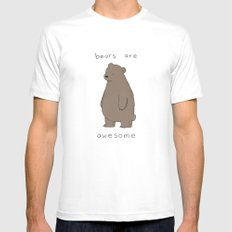 Bears are Awesome  White MEDIUM Mens Fitted Tee