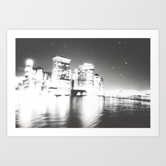 The Night Freezes Lonely Art Print