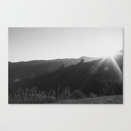 Black and White California Mountain Landscape Canvas Print