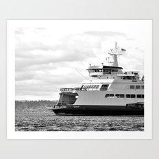 Pacific Northwest Ferry Art Print