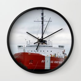 USCG Cutter Mackinaw 83 Wall Clock