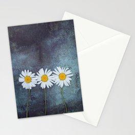 Three marguerites Stationery Cards