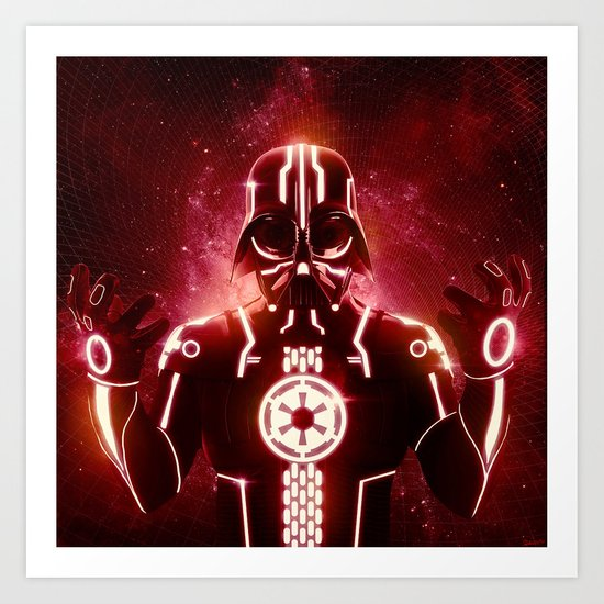 Tron Vader Red Art Print