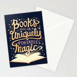 Books are magic Stationery Cards
