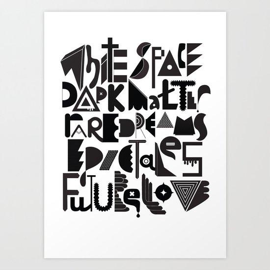 White Space Dark matter Art Print