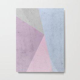 Cold Tones Geometry Metal Print