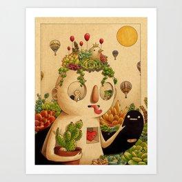 Succulent Man Kunstdrucke