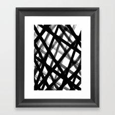 Criss Cross Black and White Framed Art Print