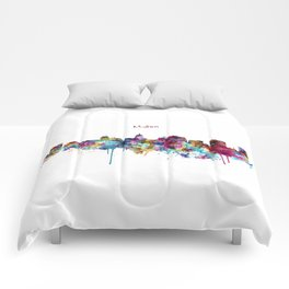 Madison Skyline Silhouette Comforters