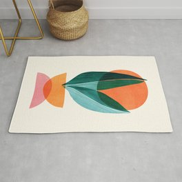 Nature Stack II / Abstract Shapes Illustration Rug