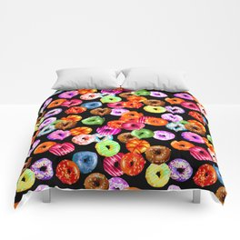 Multicolored Yummy Donuts Comforters