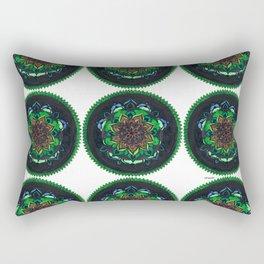 Green mandala pattern Rectangular Pillow