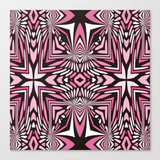 Pink Black and WHite Abstract Canvas Print
