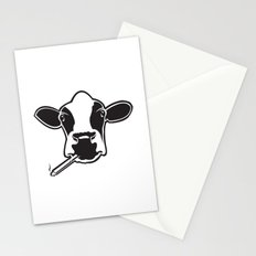 smoking cow Stationery Cards