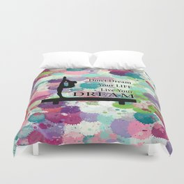 Gymnastics Live Your Dream Design Duvet Cover