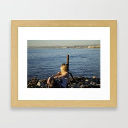 LA beaches Framed Art Print