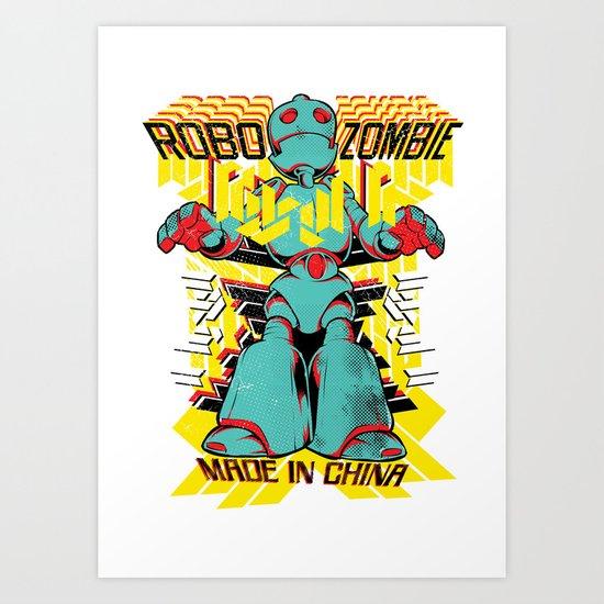 Robo Zombie Art Print