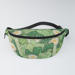 Cacti Camouflage, Green and White Fanny Pack