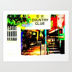 A Sophisticated Lounge Where They Have It All Art Print