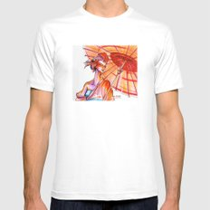 Japanese MEDIUM Mens Fitted Tee White