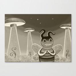bee movie noir Canvas Print