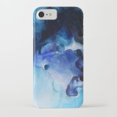 Indigo watercolor iPhone 7 Slim Case