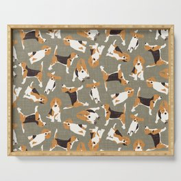 beagle scatter stone Serving Tray