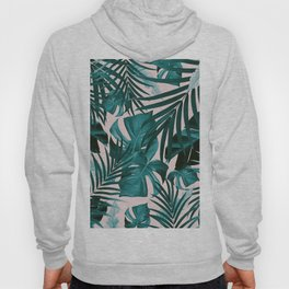Tropical Jungle Leaves Pattern #3 #tropical #decor #art #society6 Hoody