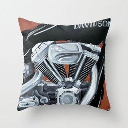 Harley Rider Throw Pillow