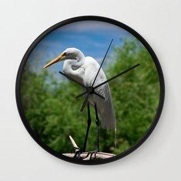Great Egret Two - Utah Wall Clock