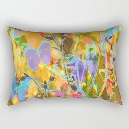 Butterflies flying in meadow - lovely colors and details - summer mood Rectangular Pillow