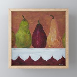 Pears on Parade Framed Mini Art Print