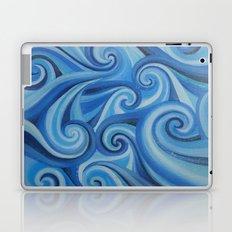 Parting Waves abstract ocean sea swirls painting Laptop & iPad Skin