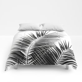 Black Palm Leaves Dream - Cali Summer Vibes #1 #tropical #decor #art #society6 Comforters