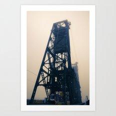Steel Bridge, Portland, Oregon Art Print