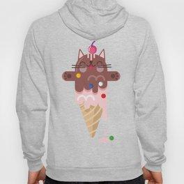 CHOCOLATE CAT ICE CREAM SUPER PAPER HERO Hoody